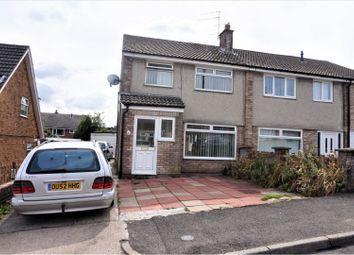 Thumbnail 3 bed semi-detached house for sale in Claverton Close, Beddau, Pontypridd