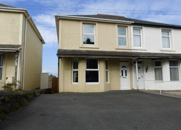 Thumbnail 3 bed semi-detached house to rent in Callington Road, Saltash
