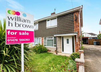 Thumbnail 3 bed end terrace house for sale in Hill View Close, Grantham