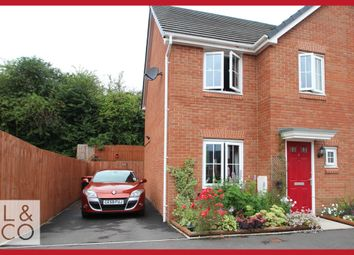 Thumbnail 3 bed semi-detached house to rent in Clos Ennig, Newport