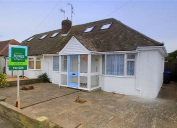Thumbnail 3 bed semi-detached bungalow for sale in Pratton Avenue, Lancing, West Sussex