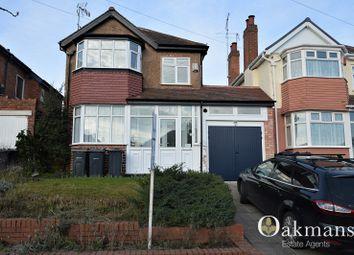 Thumbnail 3 bedroom detached house for sale in Weymoor Road, Birmingham, West Midlands.