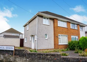 Thumbnail 3 bedroom semi-detached house for sale in Heol Lewis, Rhiwbina