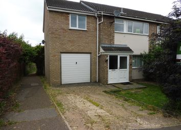 Thumbnail 4 bedroom semi-detached house for sale in St Davids Close, Long Stratton, Norwich