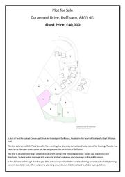 Thumbnail Land for sale in Coopers Mill, Balvenie Street, Dufftown, Keith