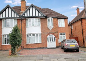 Thumbnail 5 bed semi-detached house for sale in Overdale Road, Knighton, Leicester