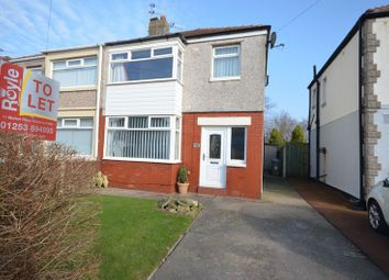 Thumbnail 3 bed semi-detached house to rent in Kildare Avenue, Thornton-Cleveleys