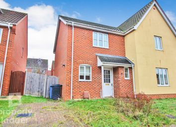 Thumbnail 2 bed semi-detached house for sale in Caddow Road, Norwich