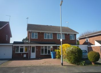 Thumbnail 3 bed semi-detached house to rent in Norman Road, Penkridge