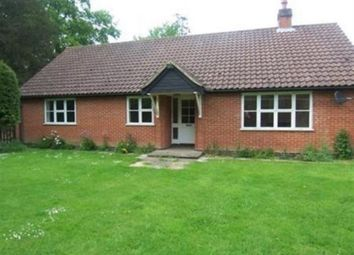 Thumbnail 3 bedroom detached bungalow to rent in Hall Lane, Riddlesworth, Diss
