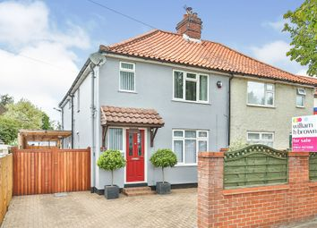 Thumbnail 3 bedroom semi-detached house for sale in Boundary Road, Hellesdon, Norwich
