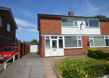 Thumbnail 3 bed semi-detached house for sale in Coombe Rise, Oadby, Leicester