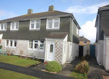 Thumbnail Semi-detached house for sale in Wellington Road, St. Eval, Wadebridge