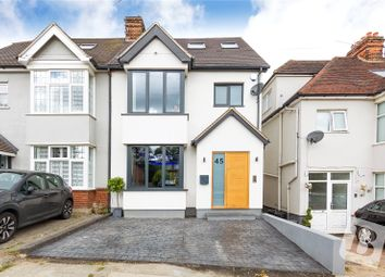 Thumbnail 4 bed semi-detached house for sale in Warley Mount, Warley, Brentwood, Essex