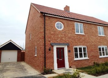 Thumbnail 3 bed semi-detached house to rent in Pople Drive, Huntingdon