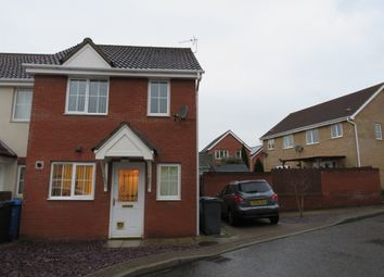 Thumbnail 2 bedroom end terrace house for sale in Pollywiggle Close, Norwich