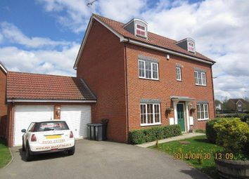 Thumbnail 6 bed detached house to rent in Edison Drive, Yaxley, Peterborough