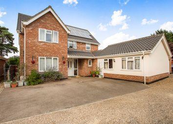 Thumbnail 5 bedroom detached house for sale in Wymbur Drive, Attleborough