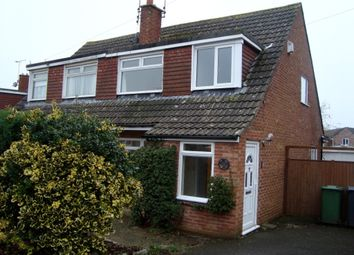 Thumbnail 3 bed semi-detached house to rent in Hazel Crescent, Thornbury, Bristol