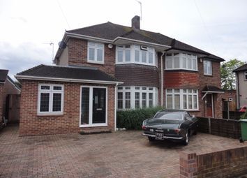Thumbnail 3 bed semi-detached house for sale in Meadway Close, Staines