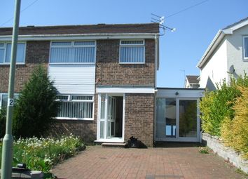 Thumbnail 3 bed semi-detached house to rent in Heol Ty Cribwr, Bridgend