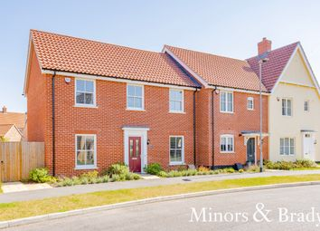 Thumbnail 3 bed end terrace house for sale in Hornbeam Road, North Walsham