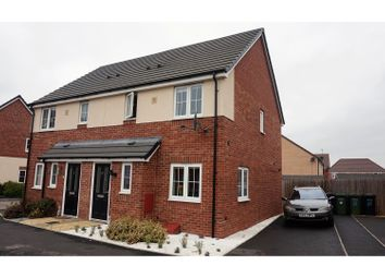 Thumbnail 3 bed semi-detached house for sale in Snaffle Way, Evesham
