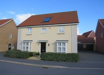 Thumbnail 4 bed detached house for sale in Towpath Avenue, Pineham Lock, Hunsbury Meadows