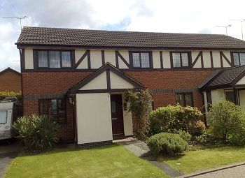Thumbnail 2 bed flat to rent in Kestrel Drive, Coppenhall, Crewe, Cheshire