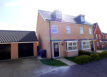Thumbnail 3 bedroom semi-detached house to rent in 3 Matilda Groome Road, Hadleigh, Ipswich, Suffolk
