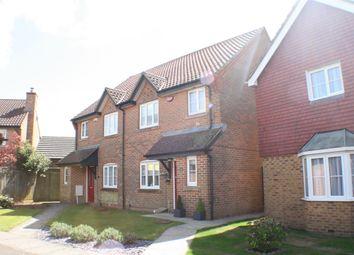 Thumbnail 3 bed semi-detached house for sale in Webster Way, Hawkinge, Folkestone Kent