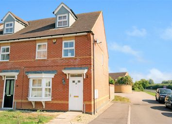 Thumbnail 3 bed end terrace house for sale in Romulus Close, Wootton, Northampton