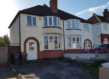 Thumbnail 3 bed semi-detached house to rent in Shalford Road, Solihull