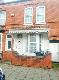 Thumbnail Terraced house for sale in Dolphin Road, Sparkhill. Birmingham