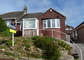 Thumbnail 2 bed semi-detached bungalow to rent in Treverbyn Road, Plympton, Plymouth, Devon