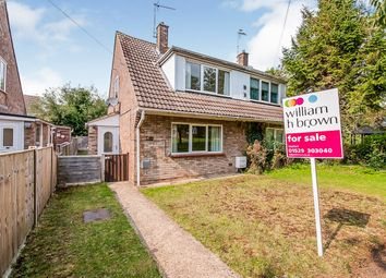 Thumbnail 3 bed semi-detached house for sale in Thorold Avenue, Cranwell Village, Sleaford