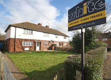 Thumbnail 2 bed flat for sale in Chequers Close, Horley, Surrey