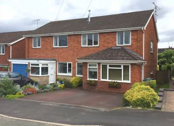 Thumbnail 3 bed semi-detached house for sale in Trinity Road, Eccleshall, Staffordshire