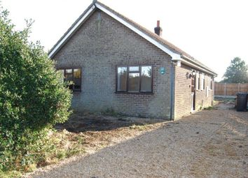 Thumbnail 2 bed detached bungalow for sale in Back Lane, Pott Row, King's Lynn