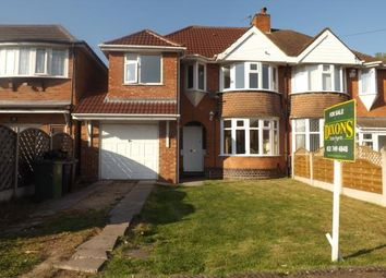 Thumbnail 4 bed semi-detached house for sale in Elmfield Road, Castle Bromwich, Birmingham, West Midlands