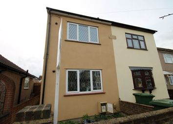 Thumbnail 2 bed semi-detached house to rent in Wolseley Road, Rush Green, Romford