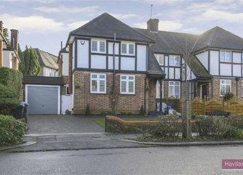 Thumbnail 3 bed semi-detached house for sale in Greenway, Southgate, London