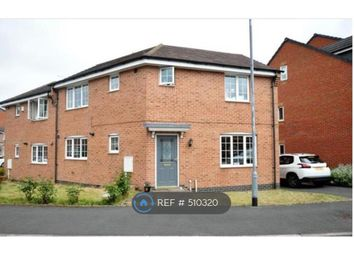 Thumbnail 3 bedroom semi-detached house to rent in Barker Round Way, Burton-On-Trent