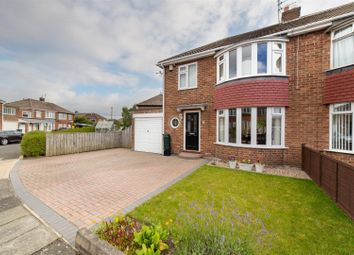 Thumbnail 3 bed semi-detached house for sale in Limewood Grove, North Gosforth, Newcastle Upon Tyne