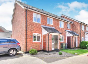 Thumbnail 3 bed end terrace house for sale in Shrub Close, Attleborough