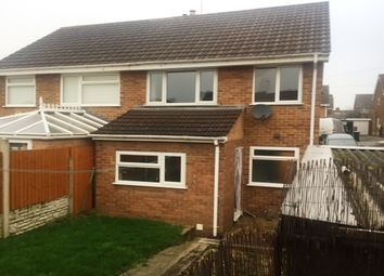 Thumbnail 3 bed property to rent in Darley Close, Castle Gresley, Swadlincote