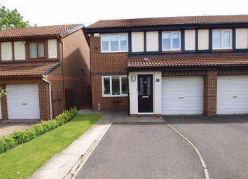 Thumbnail 3 bedroom semi-detached house for sale in Dearham Grove, Cramlington