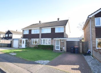 Thumbnail 3 bed semi-detached house for sale in Purbeck Close, Bedford