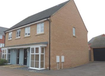 Thumbnail 3 bedroom semi-detached house for sale in Stonewort Avenue, Hampton Vale, Peterborough