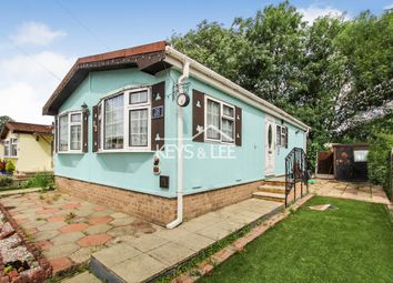 Thumbnail 2 bed mobile/park home for sale in North End, Cummings Hall Lane, Noak Hill, Romford